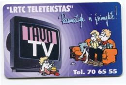 Telecarte °_ Lituanie-50-LRTC Teletekstas- R/V 9103 - Lituanie