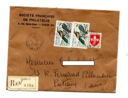 Lettre Recommandée Paris 47 Sur Guepier - Cachets Manuels