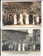SIZUN - 2 CARTES PHOTOS - Archive LE ROUX - Deux Mariages (devant L'ossuaire !) Vers 1935 - Sizun