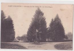 CPA - FORET D ECOUVES - CARREFOUR DU BOIS MALLET DIT LA CROIX ROUGE - France