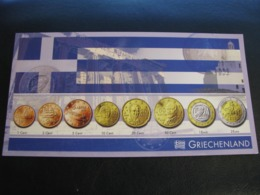 Germany Unused Postcard Clean Image Of Euro Coin Greece - Coins (pictures)