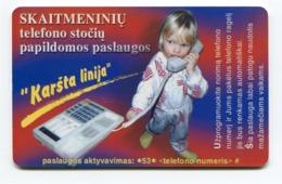 Telecarte °_ Lituanie-50-Skaimeniniu Jeune Garçon- R/V Sn - Lituanie