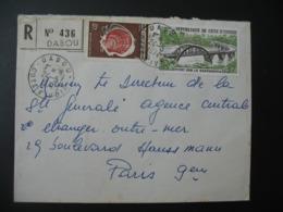 Lettre Thème Coquillage  Pont  Sur Le Sassandra  Côte D'Ivoire 1974   Pour La Sté Générale En France Bd Haussmann Paris - Ivory Coast (1960-...)