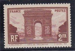 France - 1929/31 - N°YT 258** - Arc De Triomphe De L'Etoile - Cote 95€ - Francia