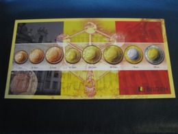 Germany Unused Postcard Clean Image Of Euro Coin Belgium - Coins (pictures)