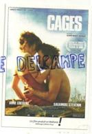 Publicité. Cages. Film De Olivier Masset-Depasse. Carte Boomerang - Affiches Sur Carte