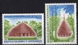 "Nle-Caledonie YT 553 & 554 "" Cases Indigènes "" 1988 Neuf** - Nieuw-Caledonië"