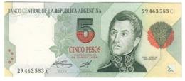 ARGENTINA5PESO1992P341UNCPresident BCRA 341B.CV. - Argentina
