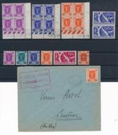 DB-354: FRANCE: Lot Avec N°322/326**-327*(2) (coins Datés** + 1 Enveloppe) - Neufs