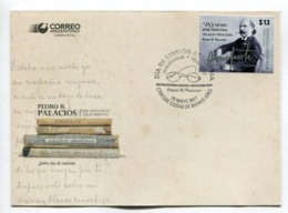 PEDRO B. PALACIOS, 100 AÑOS DE SU FALLECIMIENTO -  ARGENTINA 2017 FDC SOBRE DIA DE EMISION -LILHU - FDC
