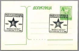 SOCIEDAD DE ESPERANTO MARKO NESIC. Novi Sad 2002 - Esperánto