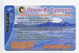 Telecarte °_ Mongolie-Oxpoh- R/V 5524 - Mongolië