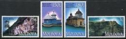 MOLDOVA 2000 Churches And Monasteries MNH / **.  Michel 366-69 - Moldavie