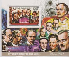 Comores, BF 75eme Anniversaire Du Prix Nobel, W. Rontgen, H. Becquerel, M. Planck, E. Lawrence, A. Einstein..... - Nobel Prize Laureates