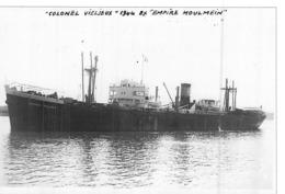 """Photo Récente Bateau """" Colonel Vieljeux  """" Delmas 1943 Newcastle 1954 """" Indian River """" 1960 """"Atticos """" 1961 """" Valor """" - Reproducciones"""