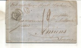 Lettre De 1845 De Metz Vers Amiens - Poststempel (Briefe)