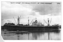 "Photo Récente Bateau "" Bernières "" Delmas Vieljeux Ex "" John Harward "" Liberty Ship 1942 USA - Reproducciones"