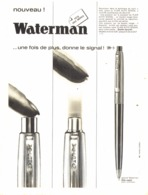 "PUB STYLO  "" WATERMAN  ""  1964 ( 28 ) - Stylos"