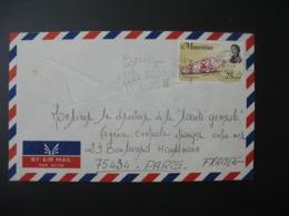 Lettre Thème Coquillage Ile Maurice    1974  Pour La Sté Générale En France Bd Haussmann Paris - Mauritius (1968-...)