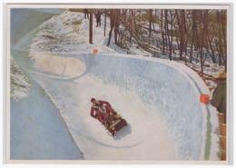 DT- Reich (001672) Winter- Olympia 1932 Sammelbild Nr.194, Der Deutsche Zweierbob In Einer Gefährlichen Zickzackkurve - Estate 1932: Los Angeles