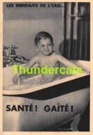 CPA GARCON NU LES BIENFAITS DE L'EAU SANTE GAITE PHOTO ZUBER NUDENAKED BOY IN BATH TUB - Publicité