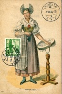48076 Switzerland, Maximum  1.12.1934 ,  (first Day Postmark !!!)pro Juventute 1934, Costume, Trachten  (see 2 Sca) - Maximumkaarten