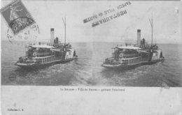 """PAIMBOEUF - Le Steamer """"ville De Nantes"""" Quittant Paimboeuf Restaurant Vapeur Ville De Nantes - Paimboeuf"""