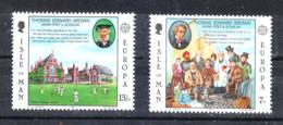 Man - 1980 . Cricket Davanti Al Brown College. Complete MNH Series - Cricket