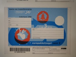 Netherlands EuroPakketzegel December 1998 Upto 3 Kg Not Used  Euro Pakketzegel - Ganzsachen