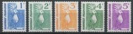 """Nle-Caledonie YT 568 à 572 """" Série Le Cagou """" 1989 Neuf** - New Caledonia"""