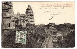 ANGKOR-WAT - Voyage Aux Monuments Khmers - Vue D' Ensemble De La Façade Nord - Ed. A. T. - 26 - Camboya