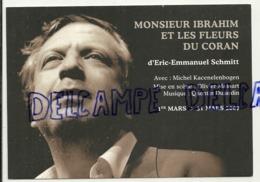 Publicité. Théâtre Le Public. Monsieur Ibrahim Et Les Fleurs Du Coran. Carte Boomerang. Eric-Emmanuel Schmitt - Théâtre