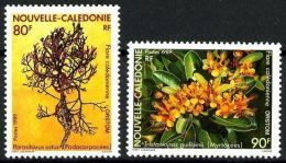 """Nle-Caledonie YT 574 & 575 """" Flore """" 1989 Neuf** - New Caledonia"""