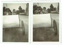 Foto/Photo. Westende 1952. Enfants Et Cuistax. Voiture à Pédale. Lot De 2 Photos. - Anonymous Persons