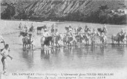 MAROC - SAFSAFAT - L'abreuvoir Dans L'Oued Meloulou - 1916 - Autres