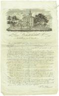 Koekelberg. Pensionnat. 18.. Rare Et Superbe Document Du 19è Siècle. - Documents Historiques
