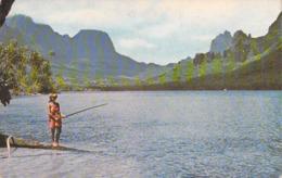 Polynésie Française BAIE DE COOK à MOOREA  (BV )(pêche à La Ligne)  (Photo SOUNAM Tahiti  C 27226)  *PRIX FIXE - Polynésie Française