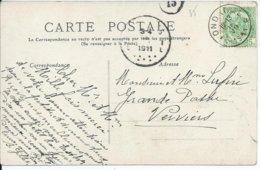Fantasiekaart Met OCB 83 -afstempeling PONDROME - COBA 8 - 1893-1907 Wappen