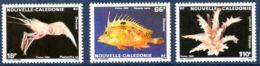 "Nle-Caledonie YT 576 à 578 "" Faune Marine "" 1989 Neuf** - Nieuw-Caledonië"