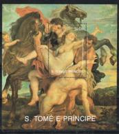 34091.  Hojita Pintor RUBENS, Santo Tomé E Principe 1990. Rapto De Las Sabinas ** - Rubens
