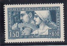 France - 1928 - N°YT 252** - Le Travail - Cote 260€ - Cassa Di Ammortamento