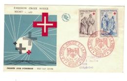 1° JOUR, YVERT N° 1140 / 41 CROIX ROUGE - FDC