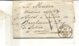 Lettre De 1831 De Bourges Vers Moulin - Poststempel (Briefe)