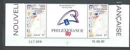 """Nle-Caledonie YT 579A Paire """" Révolution Française """" 1989 Neuf** BDF Daté - Ungebraucht"""