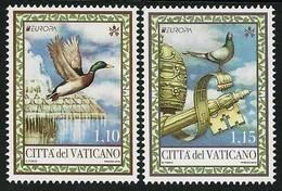 """VATICANO/ VATICAN/ VATIKANSTADT / EUROPA 2019 -NATIONAL BIRDS.-""""AVES - BIRDS - VÖGEL -OISEAUX""""- SERIE De 2 V N - 2019"""