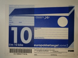 Netherlands Europakketzegel Upto 10 Kg, Not Used  Zone 2  Euro Pakketzegel - Ganzsachen