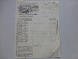 82 MONTAUBAN 1909 Biscuits De Luxe Emile POULT, Facture Pour Saint-Flour (Cayrol)  Ref 754 ; PAP08 - France