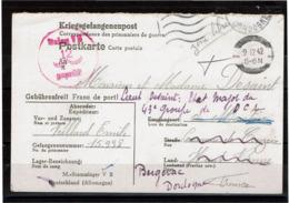 LCTN57/2 - CORRESPONDANCE DES PRISONNIERS DE GUERRE STAMMLAGER V B DE DECEMBRE 1942 - WW2