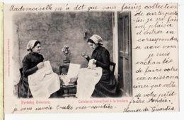 X66051 Catalogne  CATALANES Travaillant à La BRODERIE 23.10.1902 à PRINCE Tours - Librairie BRUN Perpignan - Frankreich