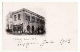 X66055 PERPIGNAN Catalogne Pyrenees Orientales La LOGE Cafe France Ancien Tribunal Maritime 1902 à à BOCHAT Grenoble - Perpignan